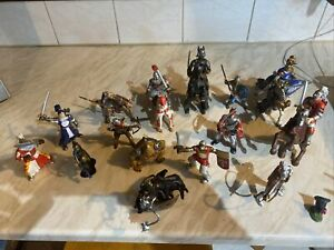 Vintage Toy Knights On Horseback And Standing