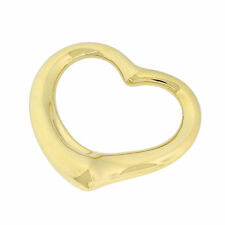 Tiffany&Co. Jewelry Elsa Peretti 18K Yellow Gold Large Open Heart Charm Pendant