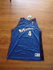 Throwback Champion Washington Wizards CORY ALEXANDER Autograph Jersey RARE Large