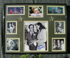 LAUREN BACALL 8 BY 10 AUTHENTIC HAND SIGNED COLAGE