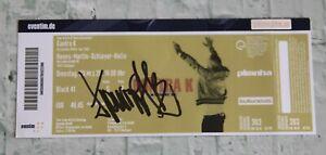 ORIGINAL Autogramm von Kontra K. 100 % ECHT. Signiertes Ticket. D. LETZTEN WÖLFE