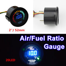20 LEDs DIGITAL AUTO CAR SUV AIR/FUEL RATIO MONITOR RACING GAUGE ANALOG 2'' 52MM
