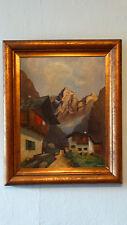 Altes Gemälde Ölbild auf Holz Öl Gemälde Bild Bilder Landschaft R. SPANDOWSKI