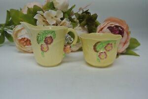 Vintage Carlton Ware Primula Creamer Jug and Open Sugar Bowl Australian Design