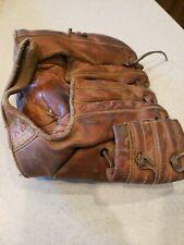 Antique Vintage 1940's Hutch model 360 Leather baseball glove Cincinnati Ohio