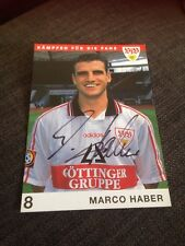 Marco Haber Germany Stuttgart Signed Official Club Photo Card