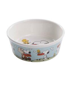 PEANUTS SNOOPY DOG BOWL Pet Bowl Stoneware Ceramic 5 inches  NEW