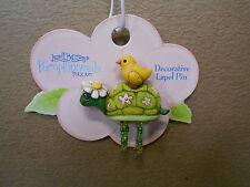 Pin Pumpkinseeds Folk Art 4012495 Turtle / Chick Pin Decorative Lapel