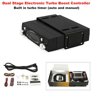Car Dual Stage Electronic Turbo Boost Controller with Turbo Timer Engine Cooling