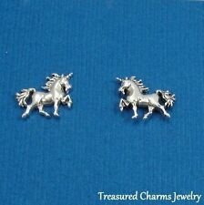 .925 Sterling Silver UNICORN Magical Fantasy Post Stud EARRINGS