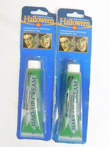 Halloween Cosplay Stage Makeup - Green Cream 2 oz - Vampire Zombie Horror #7404