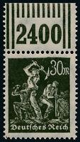 DR 1923, MiNr. 243 I W OR, postfrisch, gepr. Weinbuch, Mi. 80,-