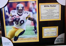 Legends Never Die Framed Memorabilia PITTSBURGH STEELERS WILLIE PARKER 2007 NFL