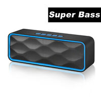 Wireless Bluetooth Speaker USB/TF Waterproof Outdoor Super Bass Stereo Speakers