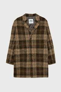 Zara AW 2019/20 Check Puffer Plaid Coat Quilted Interior Free P&P NEW