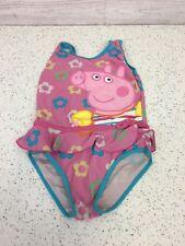 Girls Peppa Pig Swimming Costume 1 Piece 4 Years