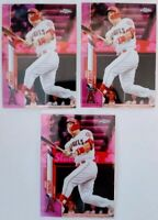 2020 Topps Chrome Mike Trout Pink Refractor Lot of 3 Angels