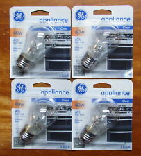 4 pack GE Appliance Light Bulbs 40W Oven Refrigerator Freezer Lava Lamp Bulb A15