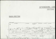 Rare Vintage Factory Hitachi SR-5200 Receiver MC-5203 Schematic Diagram