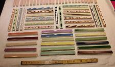 124 vintage ceramic liner tiles...in marvelou colors...ready for a creative mind