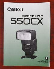 CANON SPEEDLITE 550EX INSTRUCTION BOOK/166216