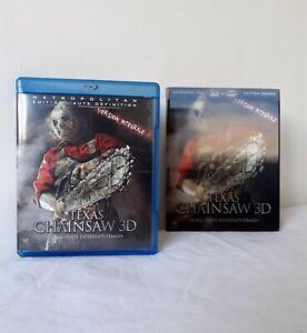 Blu-ray 3D Texas Chainsaw Boîtier Lenticulaire Horreur Suspense FR