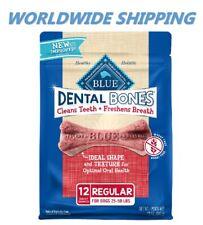Blue Buffalo Dental Bones Regular Size 12 Oz 12 Ct WORLDWIDE SHIPPING