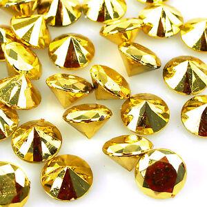Metallic Acrylic Crystal Gemstone Table Confetti, 3/4-Inch, 150-Pack
