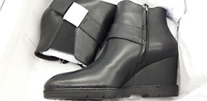 Geox Black Wedge Ankle Boots size 7 EU 41