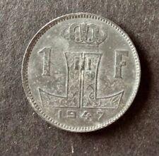 Belgique - Très  Jolie et Rare monnaie de 1 Franc 1947 VL