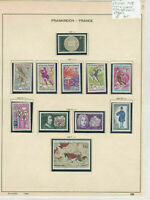 France 1968 MM+Used Stamps On 2 Pages Ref: R6810