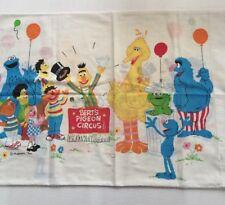 Vintage Muppets Pillow Case Cookie Monster Big Bird Grover Bert Ernie