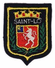 Ecusson brodé (patch/embroidered crest) ♦ Saint-Lô