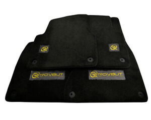 Floor Mats For AUDI With ROVBUT Limited Edition Golden Carbon Tailored Carpets