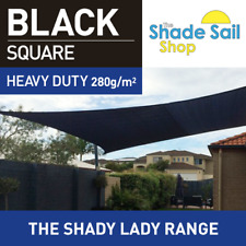 Shade Sail Square 2.5x2.5m Black 280gsm Super strong Shady Lady 2.5x2.5m 95% UV