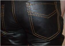 Aw-701, awanstar Motard Pantalon Cuir leather pants, Cuir Moto Pantalon, cuir jeans 36 W