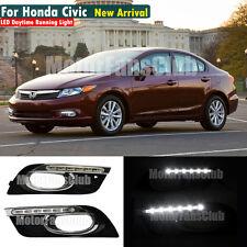New LED Daytime Running Light For Honda Civic Fog Lamp DRL 2011 2012 2013