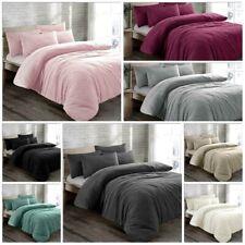 Luxury Teddy Bear Fleece Duvet Cover Set Thermal Warm Soft Bedding & Pillowcases