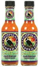 Tropical Pepper Co. Scotch Bonnet Carribean Pepper Hot Sauce 2 Bottle Pack