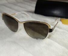 Fendi Occhiali da Sole Occhi di Gatto Panna & Oro Occhiali da Sole FS5331 Nuovo