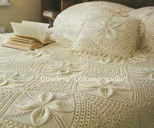 VINTAGE KNITTING PATTERN FOR A BEAUTIFUL HEIRLOOM BEDSPREAD & CUSHION