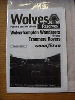 27/04/2000 Wolverhampton Wanderers Reserves v Tranmere Rovers Reserves  (4 Pages