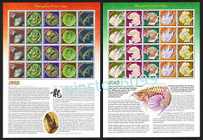2000 Malaysia Year of the Dragon Sheetlets 40v Stamps Mint NH
