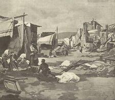 A1127 Terremoto in Calabria - Monteleone - Attendamenti - Stampa Antica del 1905