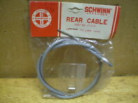 "NOS SCHWINN REAR BRAKE CABLE #17544 54/"" CABLE 20 1//2/"" /& 9 1//2/"" SPLIT CASING"