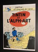 Les aventures de Tintin poster pour pastiche. Tintin et L'alph-Art. Harry Edwood