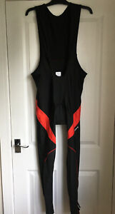 WOSAWE Black/Red Cycling Bib & Tights All In One Suit Padded Seat Size US XXXL