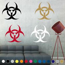 Biohazard Decal Sticker Warning Symbol Sign Wall Door Room House Logo Decor V5