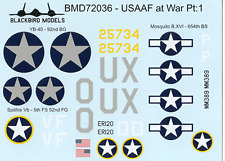 USAAF at War Pt:1 1/72nd scale decals