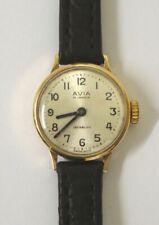 Swiss Avia 9ct Gold Ladies Manual Wrist Watch - £175